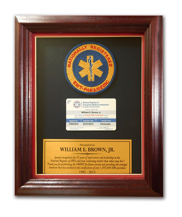 NREMT Special Recognition Award to EMT PASS developer